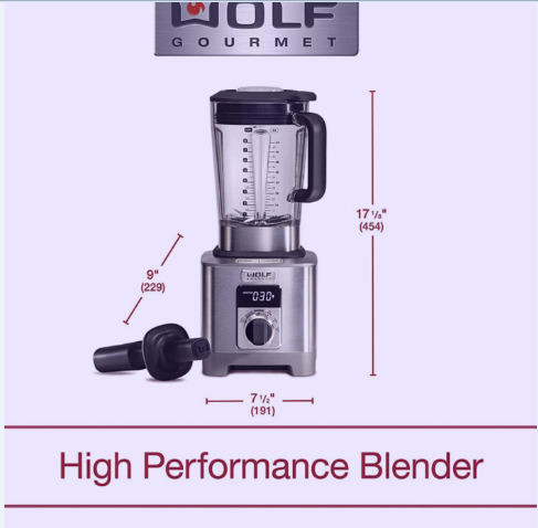 Wolf Gourmet High Performance Blender Overview